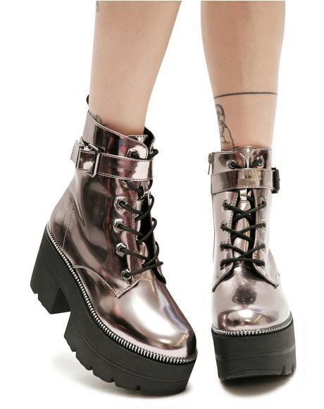 Metallic Regime Platform Boots