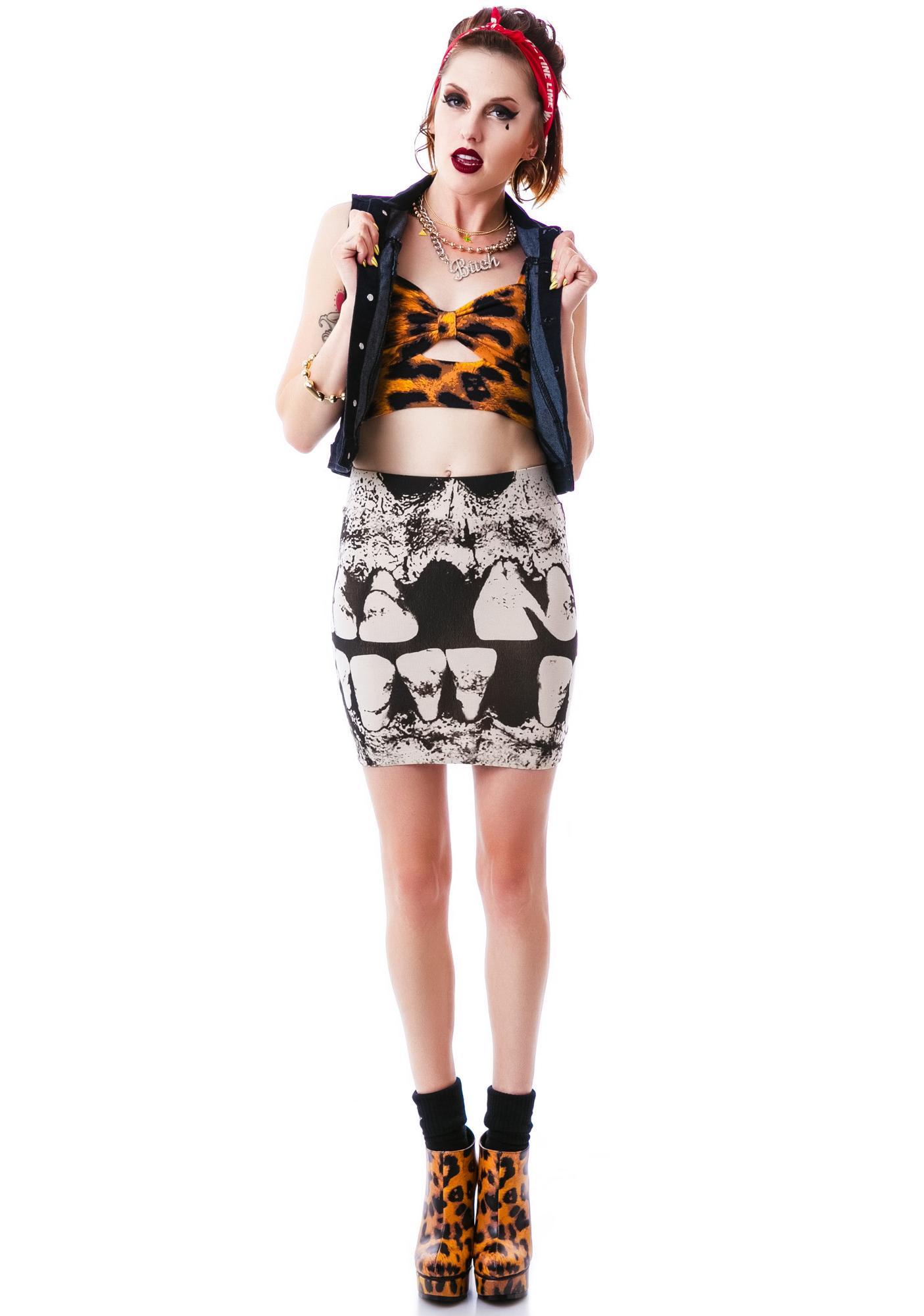 Iron Fist Loose Tooth Mini Skirt