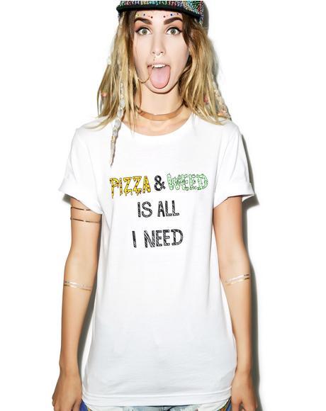 Pizza & Weed Tee