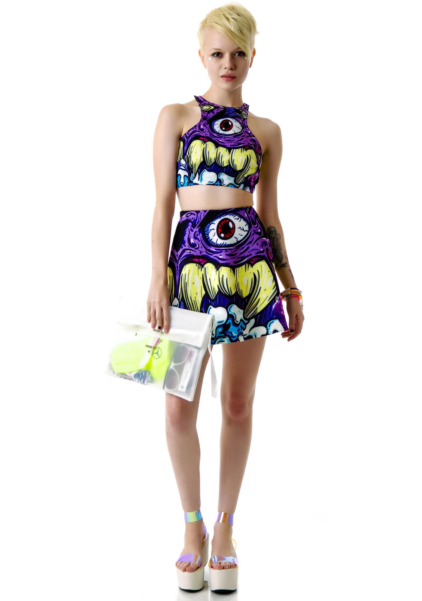 3rd Eye Monster Crop Top