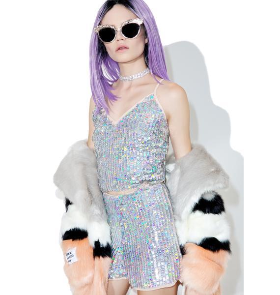 Glamorous Disco BB Sequin Shorts