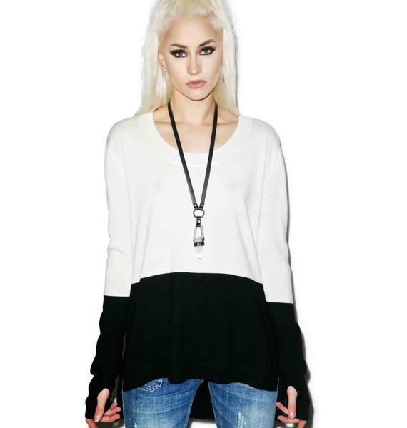 One Teaspoon Black Light Merino Knit Sweater