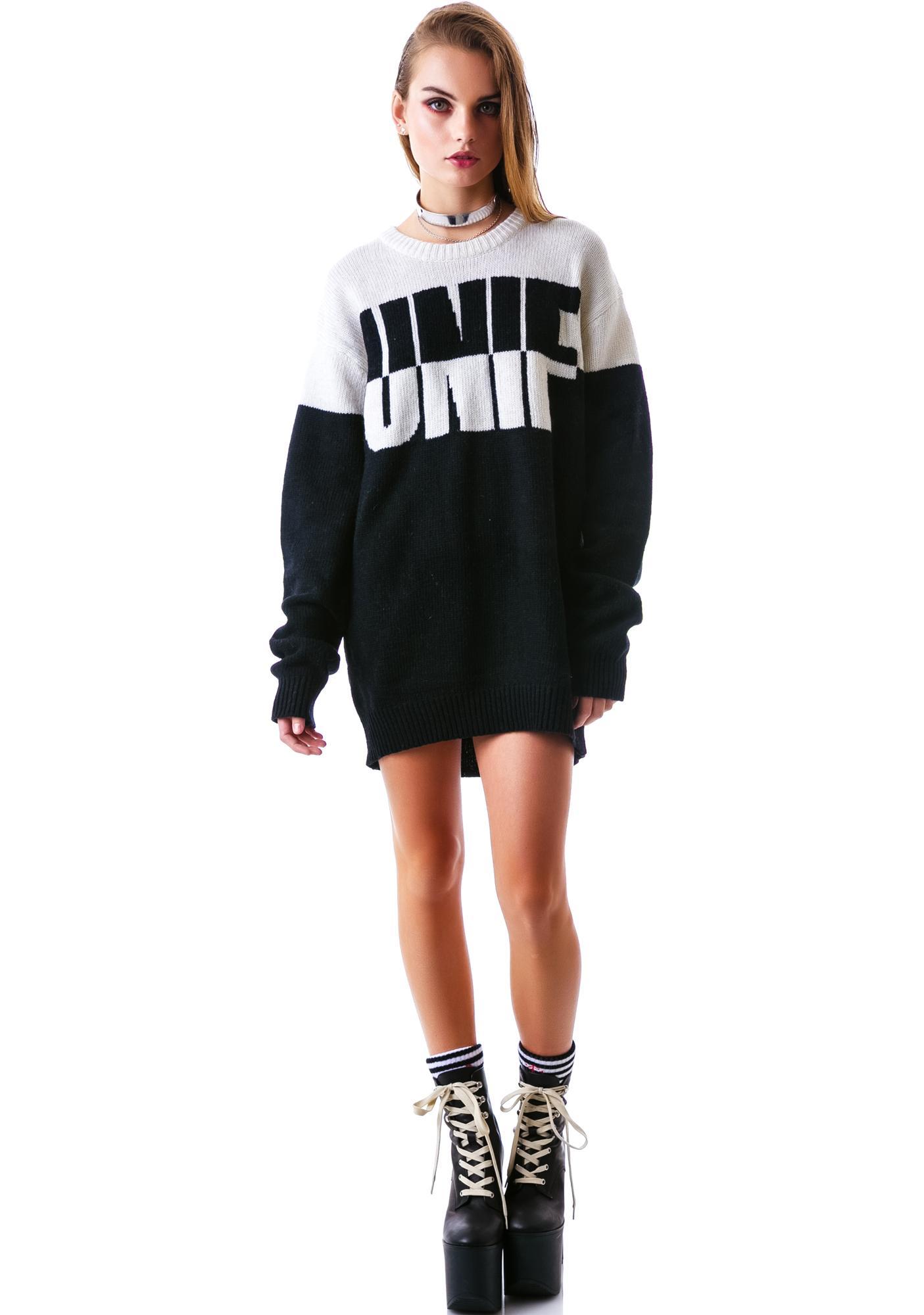 UNIF Logo Flip Sweater