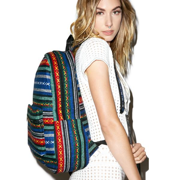Woven Acapulco Backpack