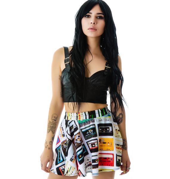 Zara Terez Cassettes Skater Skirt