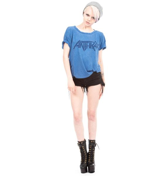 Chaser Anthrax Burnout Boxy Tee
