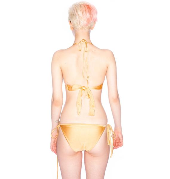 One Teaspoon Golden Road Suede Bikini