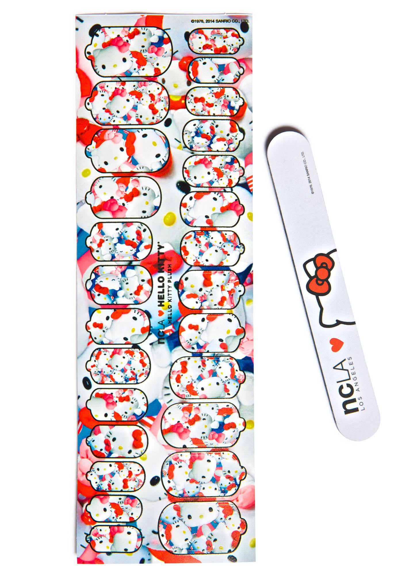 NCLA Hello Kitty Plush Nail Wraps