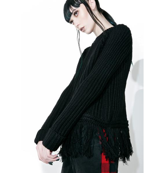 Telepathy Fringe Sweater