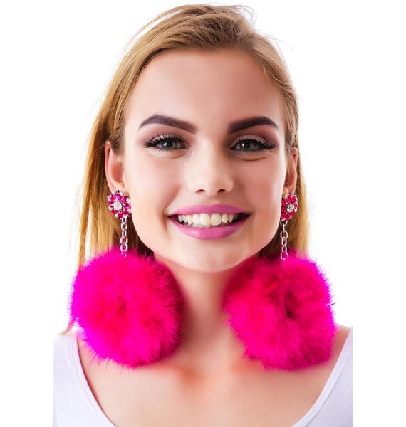 Satine Pom Pom Earrings