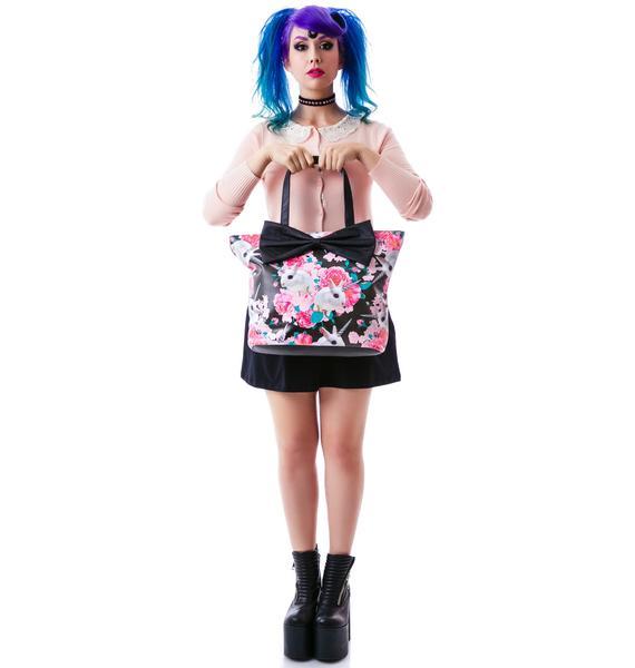 Iron Fist Bun N Roses Tote Bag