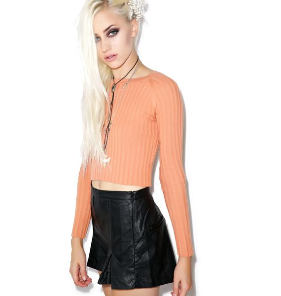 Mink Pink Heavens Devil PU Shorts