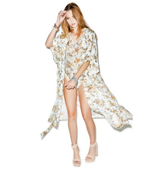 Bungalow Floral Maxi Kimono