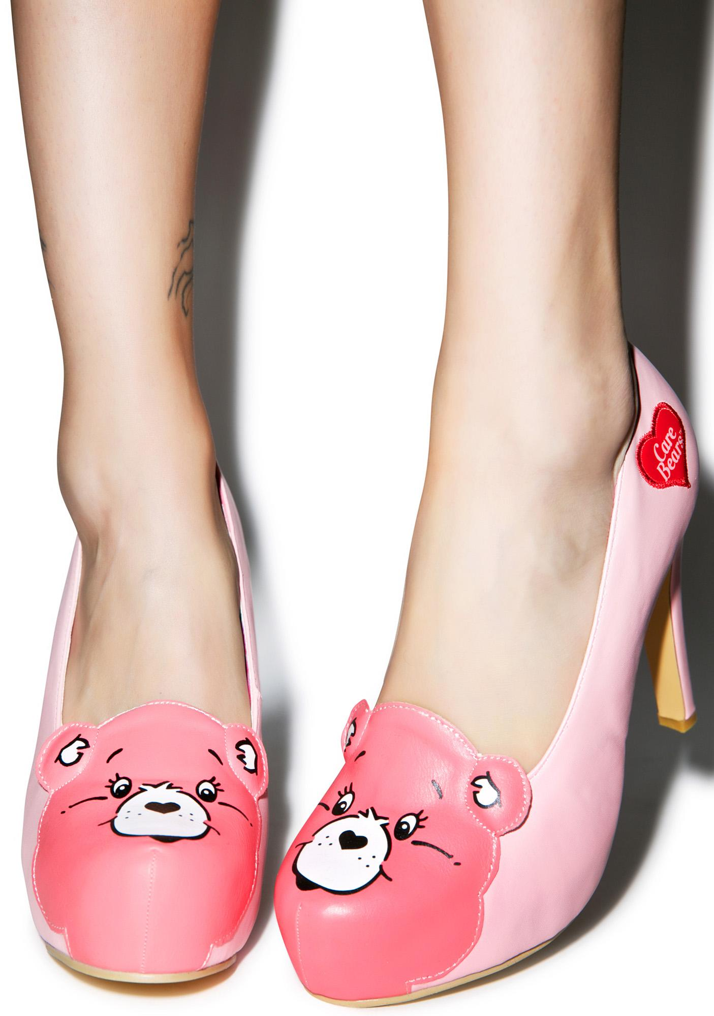 Iron Fist Care Bears Stare Platform Heels