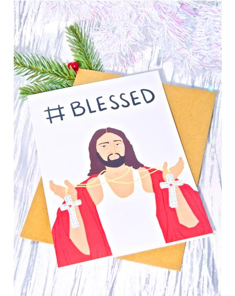 #Blessed Christmas Card