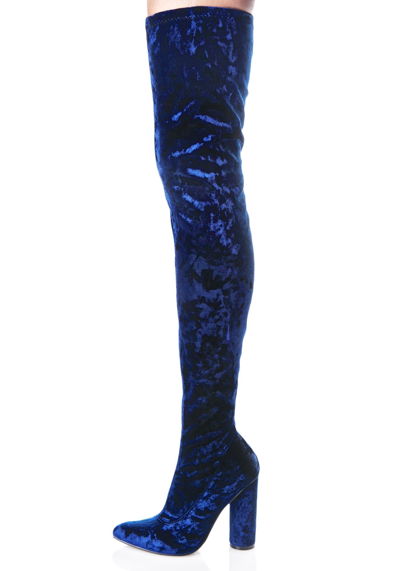 velvet thigh high boot dolls kill