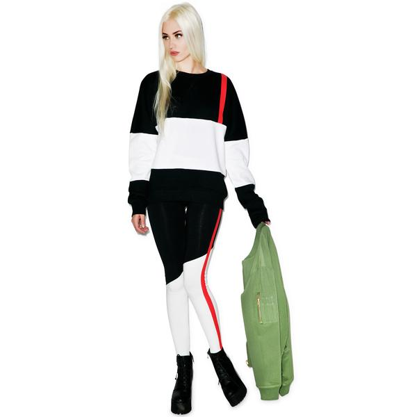 Black Scale Code Red Leggings