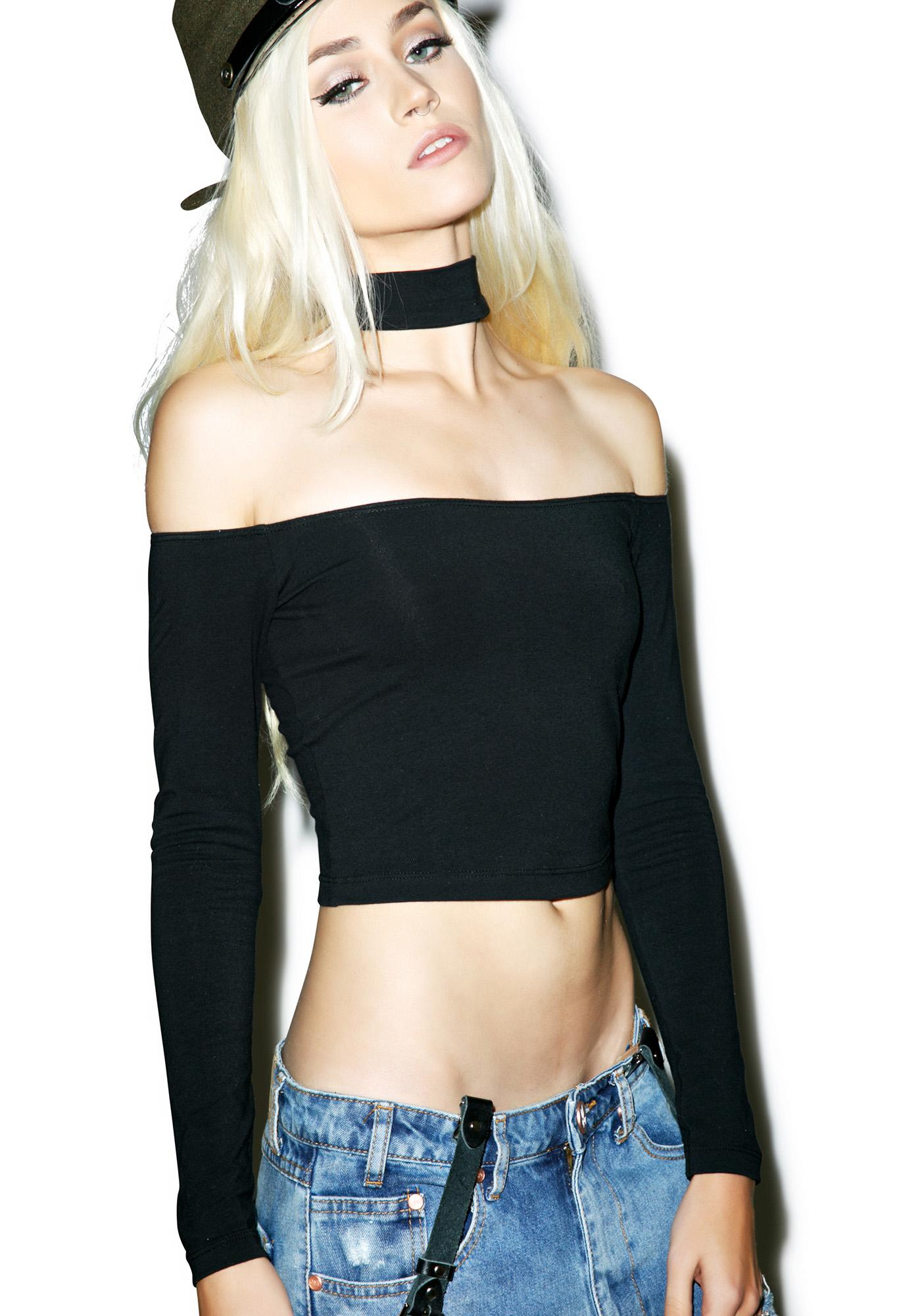American Apparel Choker Top