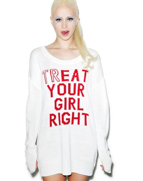 Treat Your Girl Right Knit Sweater