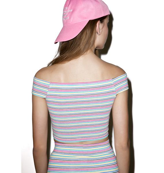 Rainbow Dreams Crop Top