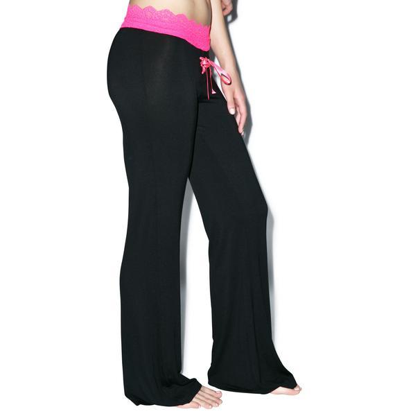 Oh, You Fancy Lace Trim Lounge Pants