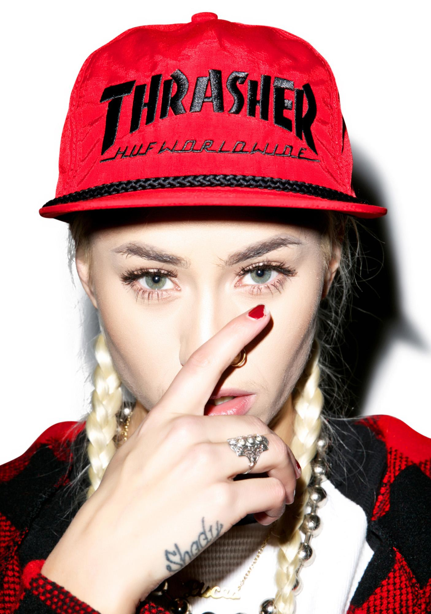 HUF X Thrasher Collab Logo Hat