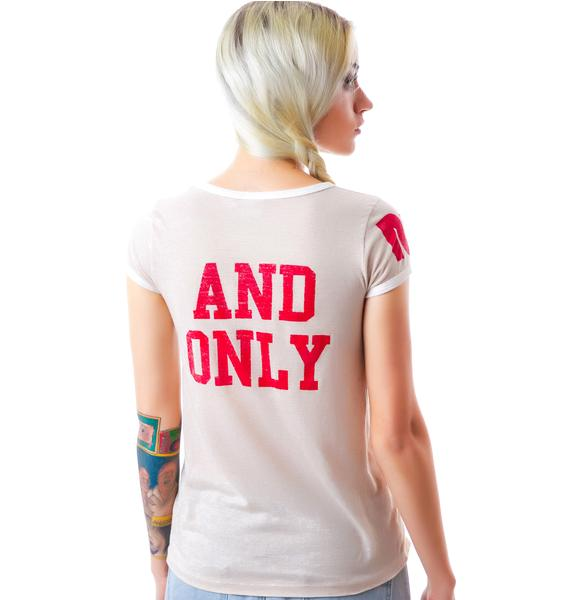Rebel Yell 1 And Only Ringer Tee
