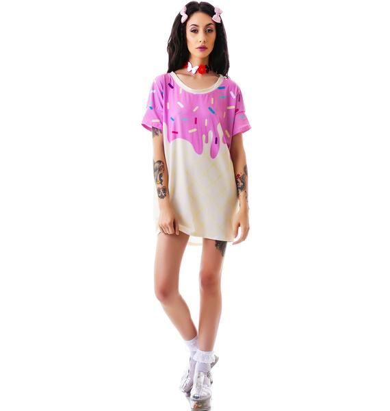 Japan L.A. Japan L.A. Melty Ice Cream Oversized Boxy Tee