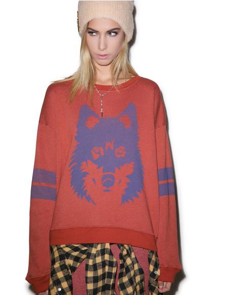 Vintage Wolf Oversized Sweatshirt