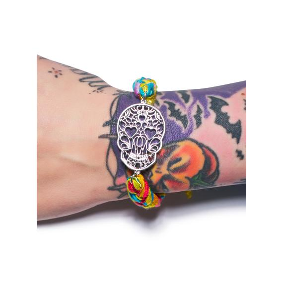 Ettika Vintage Ribbon Skull Bracelet