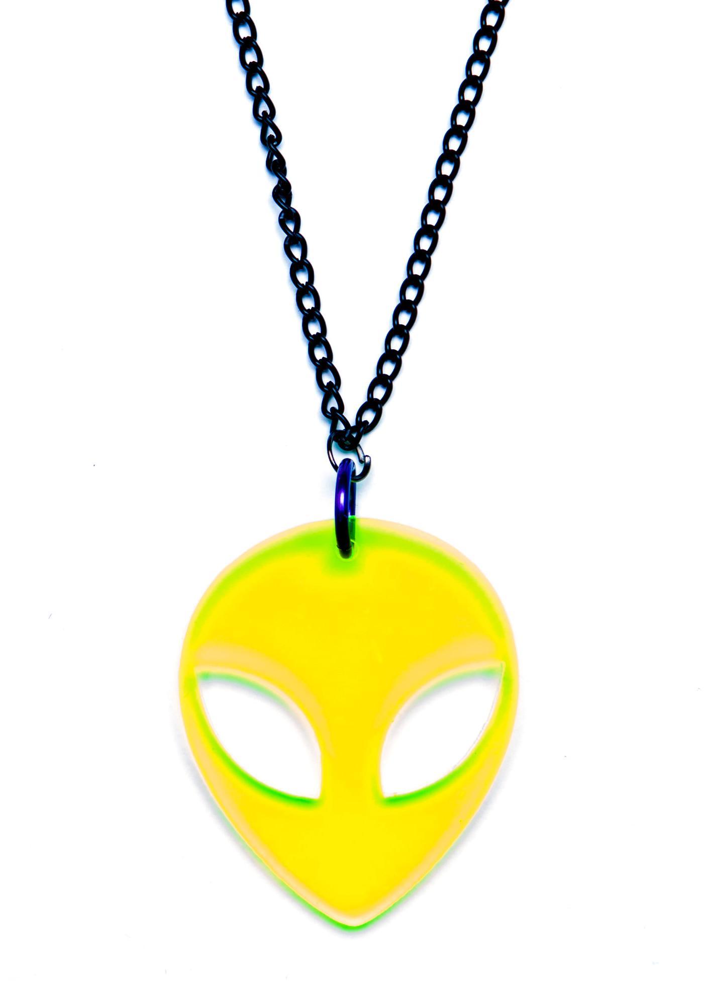 Suzywan Deluxe Alien Baby Necklace