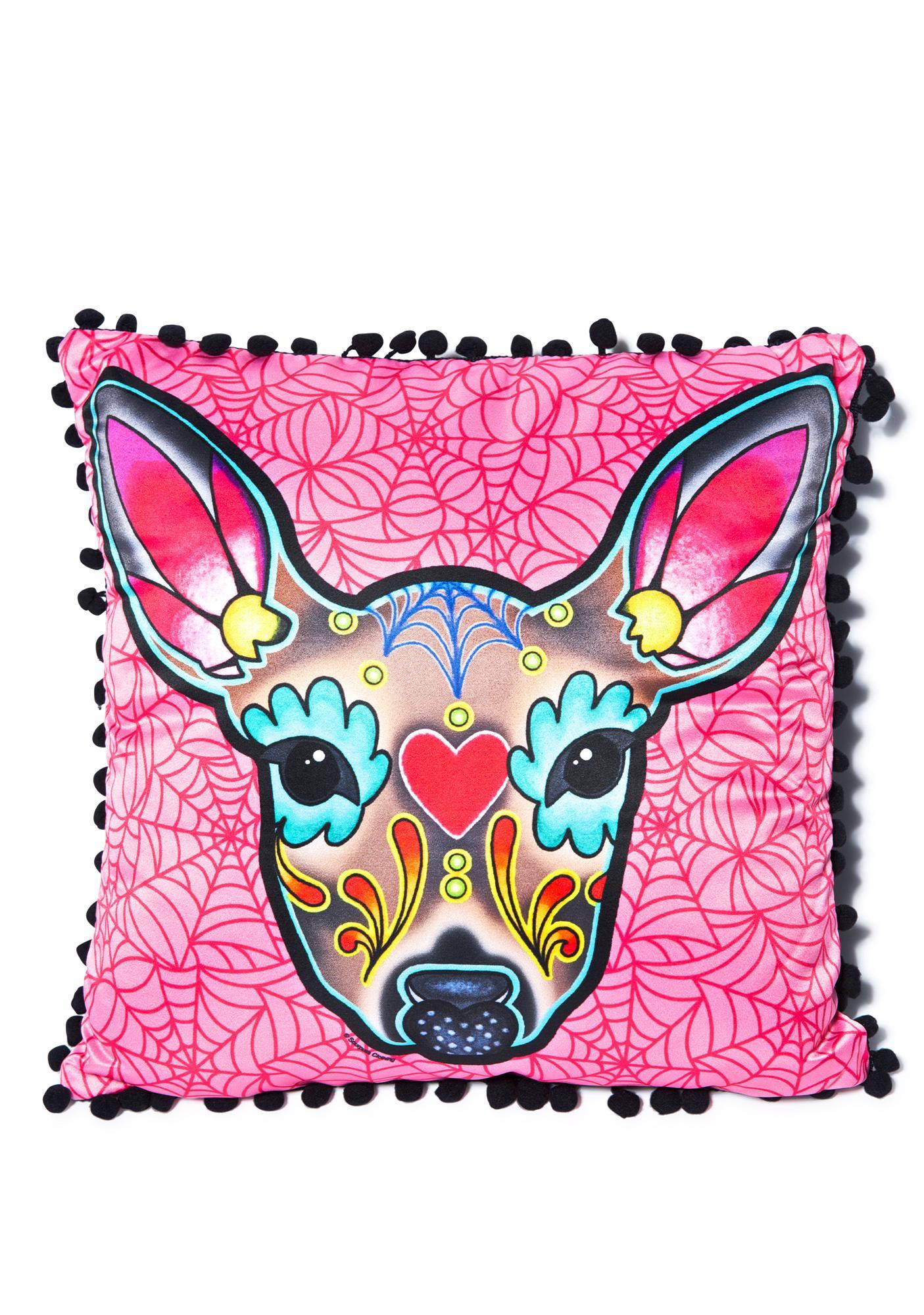 Sourpuss Clothing Deer Woodland Pillow
