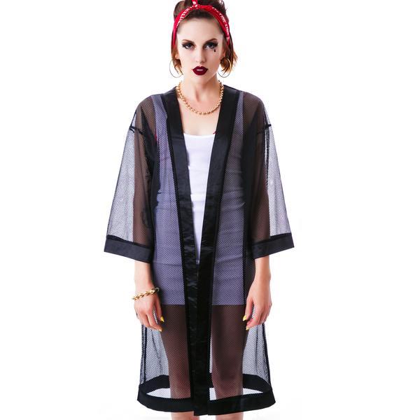 Lucky 13 Mesh Kimono