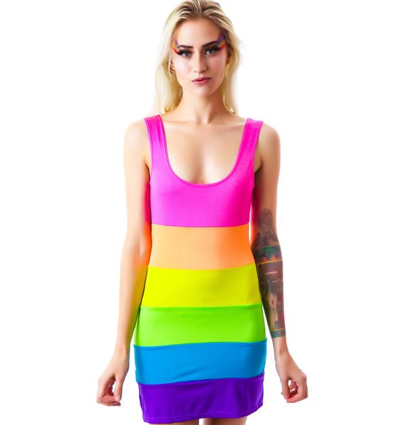 Kandi Land Spandex Mini Dress