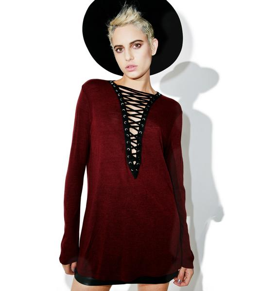 Wino Lace-Up Tee