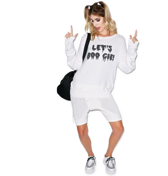Wildfox Couture Lets BOO GIE Baggy Beach Jumper