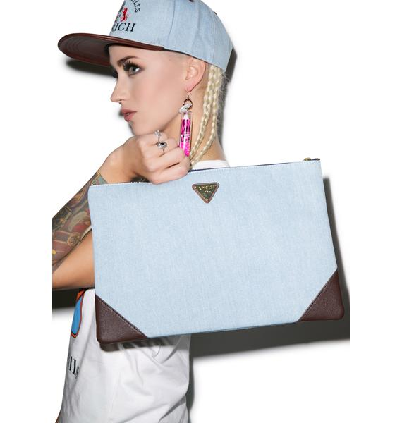 Joyrich High Beverly Hills Denim Clutch Bag