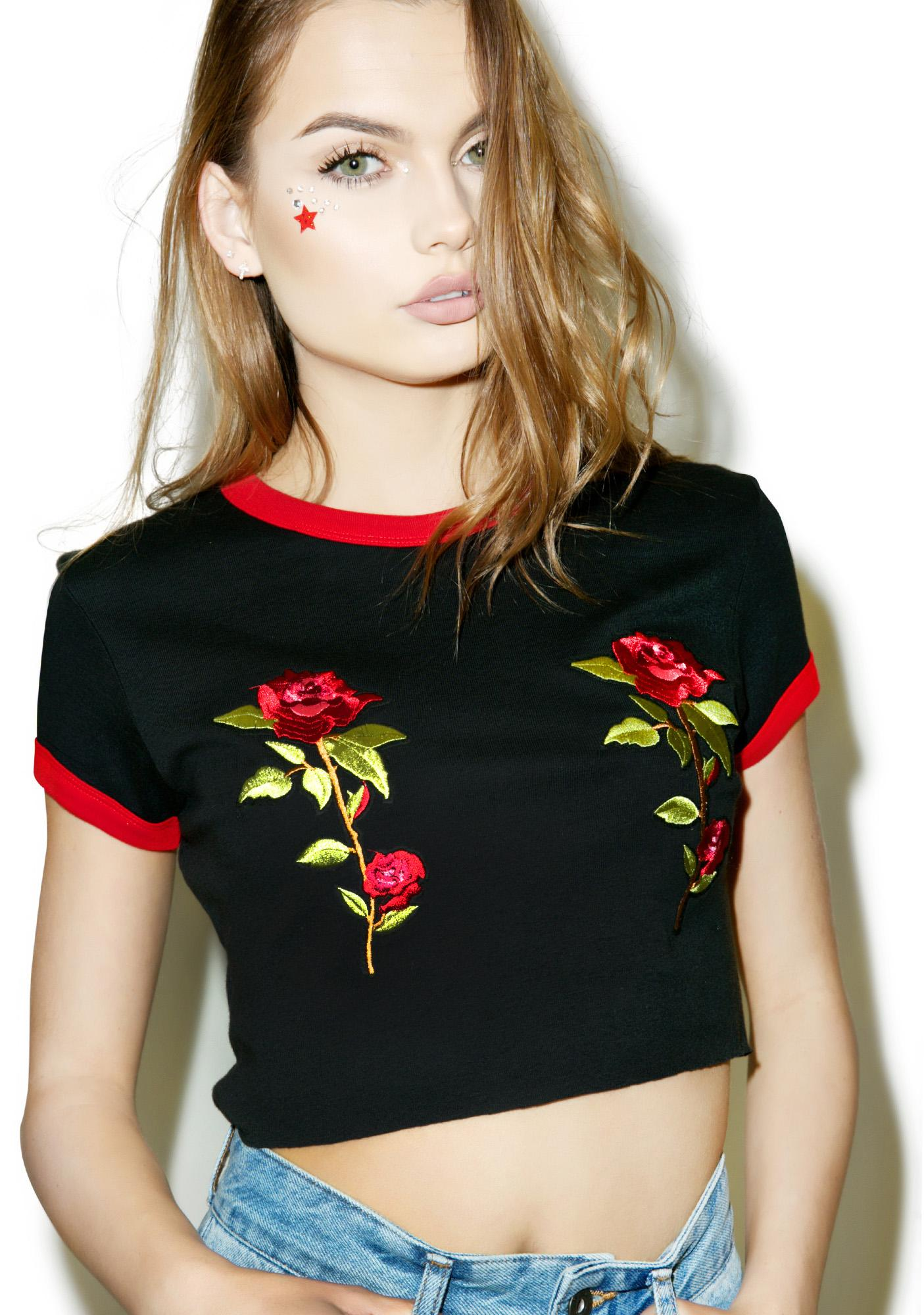 The Ragged Priest Rose Tits Ringer Tee