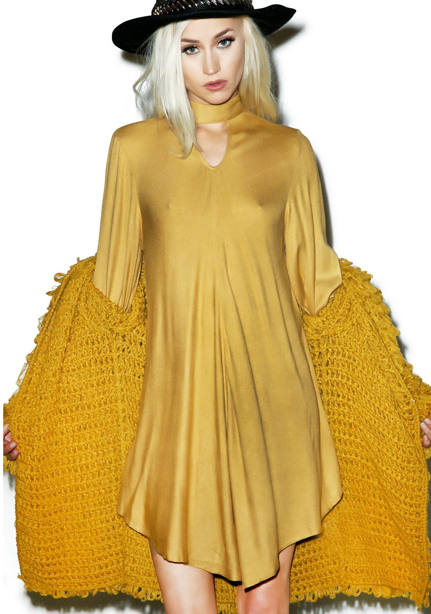 Sugarhigh + Lovestoned Goldenrod Marianne Faithful Dress