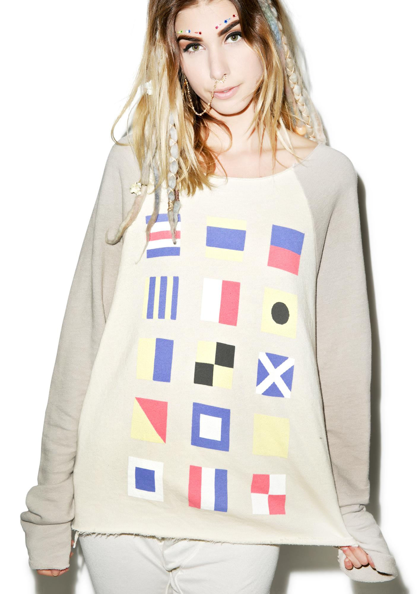Wildfox Couture Yacht Flags Sunrise Sweater