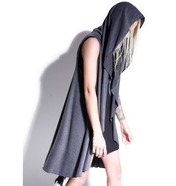 MNML Dark Shadow Sleeveless Hooded Cardigan