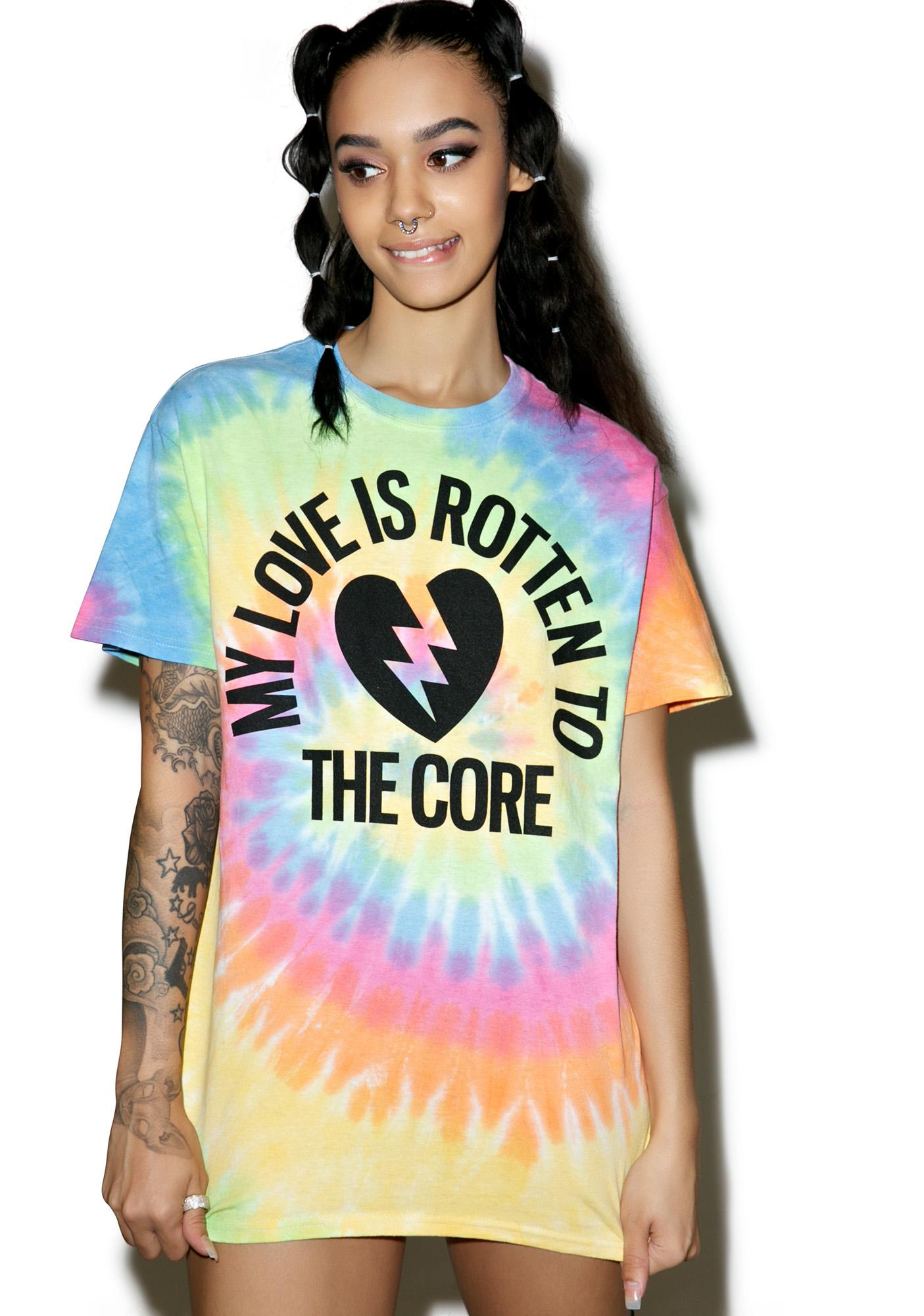 Burger And Friends Rotten 2 The Core Tee