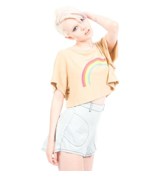 Wildfox Couture Valley Girls Rainbow Beach Tee