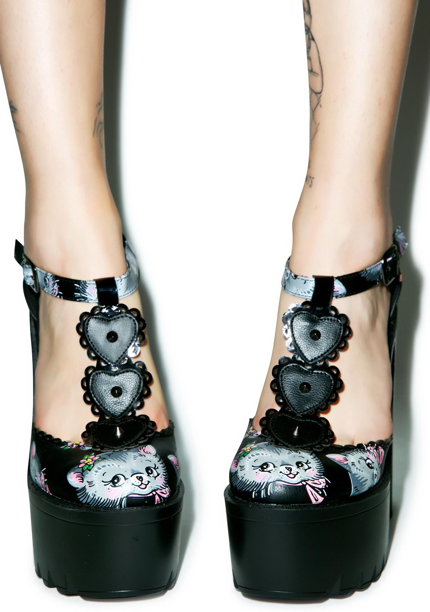 Iron Fist Cat Lady Platform Heels