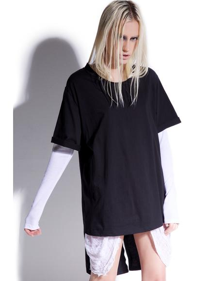 Weaponized Onyx Zipper Back Tee