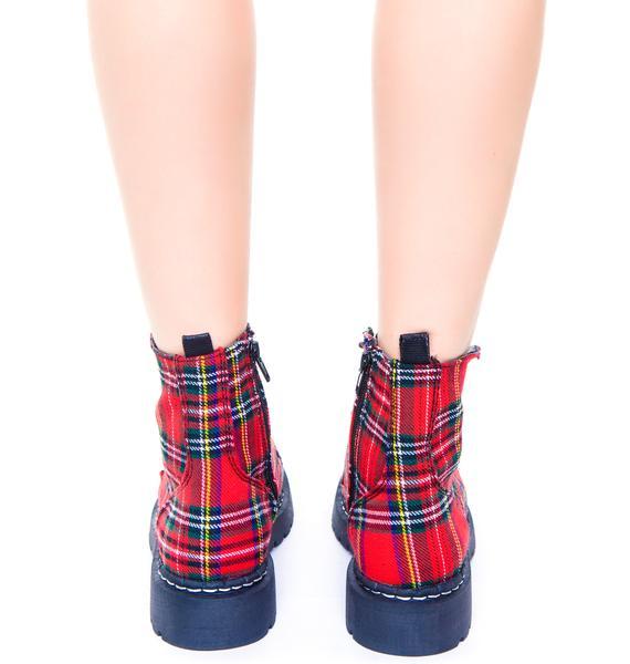 T.U.K. Plaid 7 Eye Boot