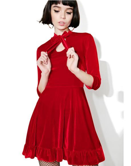 Cecilia Velvet Dress