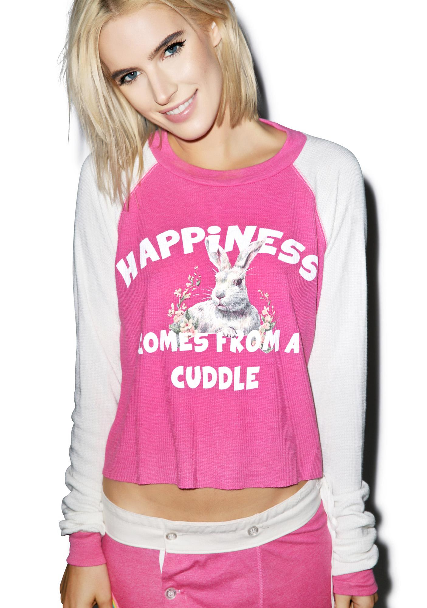 Wildfox Couture Happy Cuddle Lucca Crop Thermal