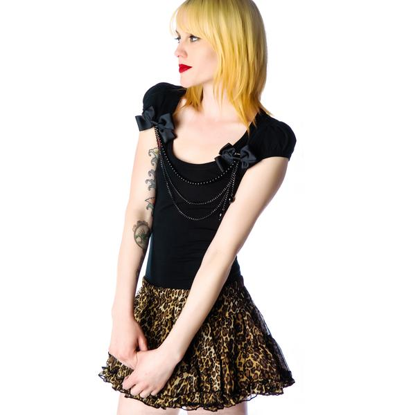 Feline Fever Ruffle Skirt