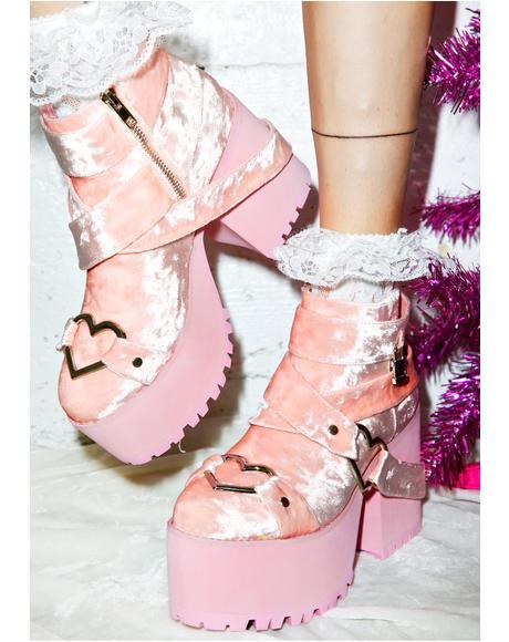 Velvet Cherish Platform Boots